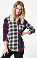 Vans Meridian Mixed Flannel Plaid Button-Down Shirt