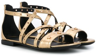 Versace TEEN Medusa laminated sandals