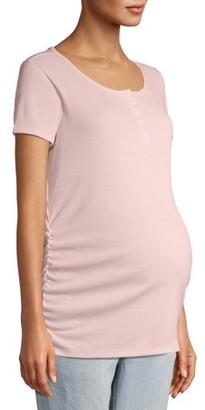 Time and Tru Maternity Short Sleeve Henley
