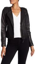 Joie Margolin Studded Genuine Leather Jacket