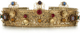 Thumbnail for your product : Dolce & Gabbana Gold-plated Swarovski crystal crown