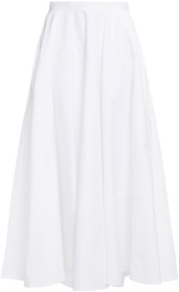 The Row Natal Pleated Cotton-blend Twill Maxi Skirt