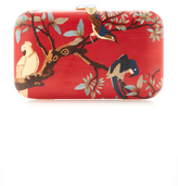 Silvia Furmanovich Red Marquetry Bird Clutch