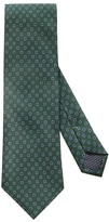Eton Green Geometric Print Tie