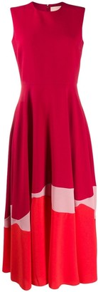 Roksanda Colour-Block Flared Dress