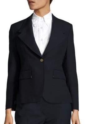 Thom Browne Wide-Lapel Wool Jacket