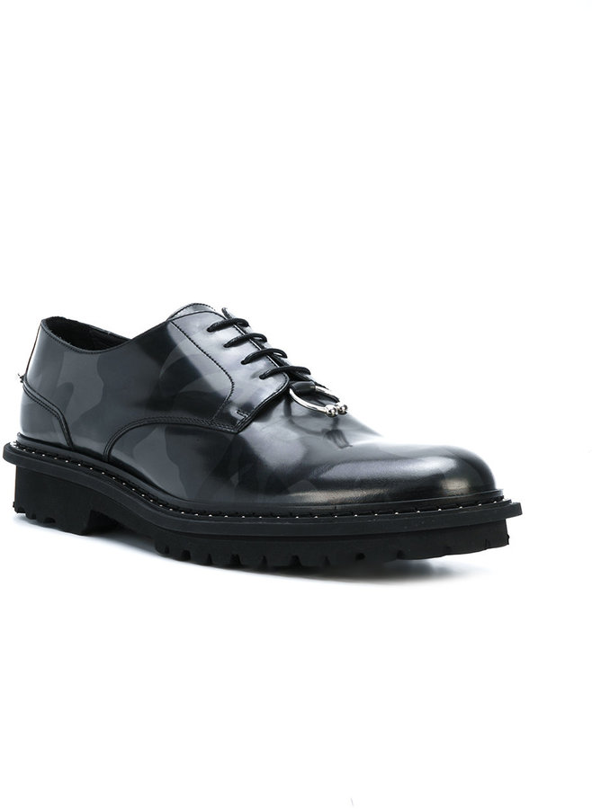 Neil Barrett camouflage derby shoes