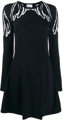 RED Valentino Jacquard Wings Knit Dress