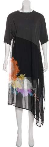 Dries Van Noten Silk-Blend Printed Dress