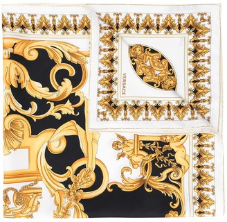 Versace Baroque Style-Print Square Scarf
