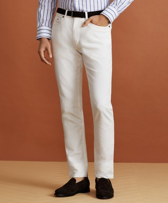 Brooks Brothers Golden Fleece Five-Pocket Stretch Cotton-Linen Trousers