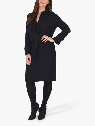 Live Unlimited Curve Tie Front Dress, Black