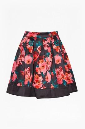 French Connection Allegro Poppy Satin Flared Skirt