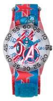 Marvel Avengers Children's Captain America Shields Time Teacher Watch in Plastic w/Nylon Strap