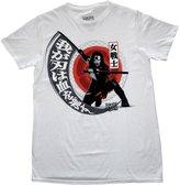 Bioworld Suicide Squad Katana Rising Sun Mens T-shirt L
