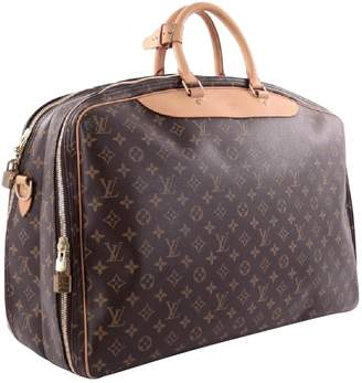 Louis Vuitton Deauville Brown Cloth Travel bags