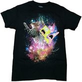 Nickelodeon ongebob Patrick Riding A Kitty Cat Licensed Graphic T-Shirt
