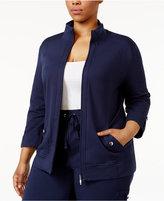 Karen Scott Plus Size Lounge Jacket, Only at Macy's