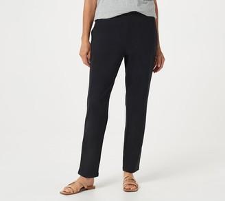 Denim & Co. Petite French Terry Full-Length Pants