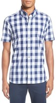 Ted Baker 'Magick' Trim Fit Check Short Sleeve Sport Shirt