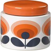 Orla Kiely Storage Jar - 70s Orange Oval Flower - Small