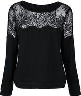 Twin-Set lace insert jumper