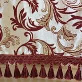 NZJXDLQ Tblecloths for living room/Modern Europen luxury tble cloth/Wine red gold lef fringed lce tble cloth/tble cloth/tble cloth