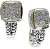 Effy Diamond Drop Earrings (1/5 ct. t.w.) in Sterling Silver & 18k Gold