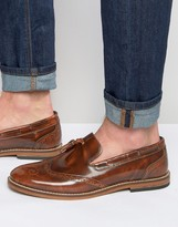 Asos Brogue Loafers in Tan Leather With Tassel