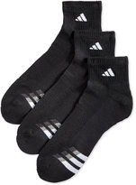 adidas Men's Cushion Performance Quarter Socks 3-Pack