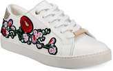 Aldo Women's Kinza Embroidered Lace-Up Sneakers