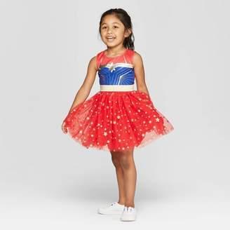 Marvel Toddler Girls' Captain Cosplay Tutu Dress - Red/Navy