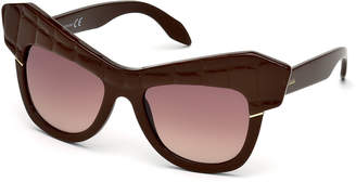 Roberto Cavalli Oversize Acetate Cat-Eye Sunglasses