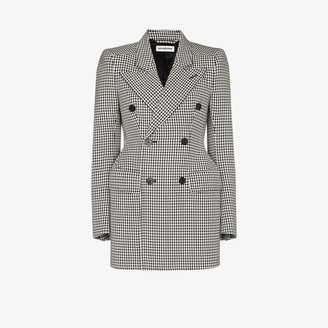Balenciaga Hourglass houndstooth double-breasted blazer