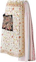 No.21 multi-print asymmetric skirt - women - Silk/Viscose - 38
