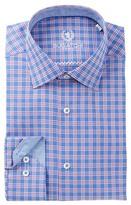 Bugatchi Check Trim Fit Dress Shirt