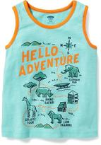 "Old Navy ""Hello Adventure"" Graphic Tank for Toddler Boys"
