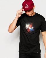 Huf Huf Splatter Logo T-shirt - Black
