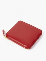 Comme Des Garcons Wallet Red Classic Leather Wallet