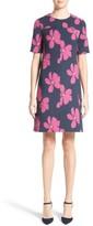 Lela Rose Women's Floral Print Stretch Jacquard Tunic Dress