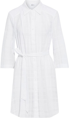 Jets La Paz Checked Cotton-jacquard Coverup