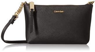 Calvin Klein Hayden Key Item Saffiano Top Zip Chain Crossbody