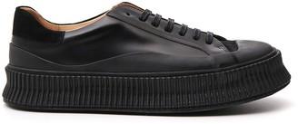 Jil Sander Lace Up Low Top Sneakers