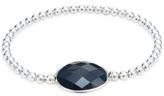 Meira T Brass & Obsidian Station Bracelet