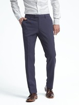 Banana Republic Slim Navy Pinstripe Wool Suit Trouser