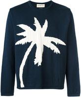 Universal Works palm tree intarsia jumper