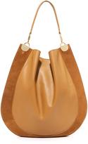 Diane von Furstenberg Large Leather & Suede Hobo Bag
