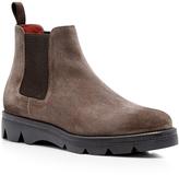 Santoni Mink Suede Chelsea Boots