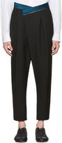 Haider Ackermann Black Wool Band Trousers