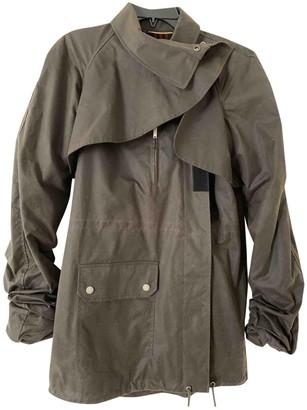 Saint Laurent Green Wool Coat for Women